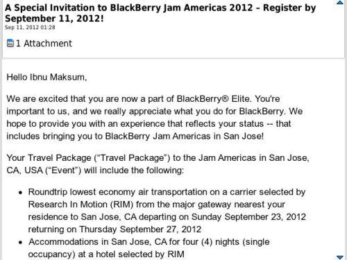 Undangan BB Jam Americas